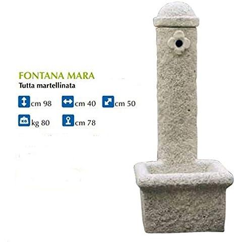 Fontana da giardino martellinata in pietra ricostruita