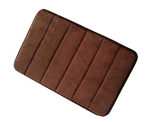 Diossad Badteppich Braun Microfaser Gedächtnis Schaum Saugfähig Wasser Anti Rutsch Weich Haushalt Badezimmer Teppich