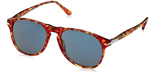 Persol Herren 0Po6649S 106056 55 Sonnenbrille, Rot (Red Tortoise/Blue)