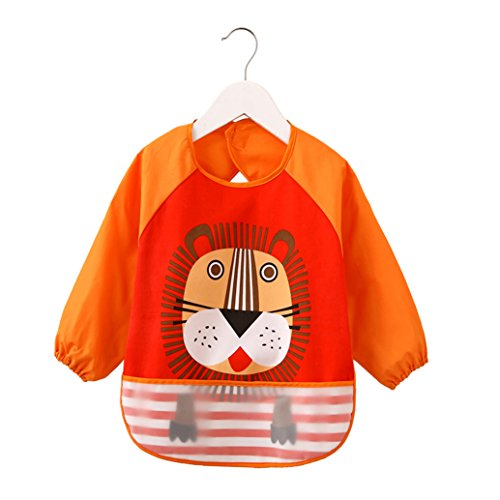 baby-nursing-feeding-bibs-baby-waterproof-bib-for-infant-toddler-orange-lions