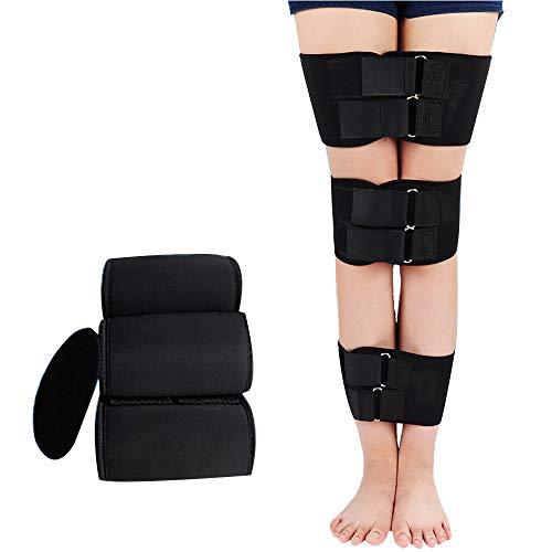ZLMFBMStom Einstellbar Beine KöRperhaltung Korrektor ,BeinkorrekturgüRtel Aus Kunststoff, O/X-Typ Verstellbare Beinhaltung Korrektur Klopfen Knie Form Bandage Band Unisex,M -