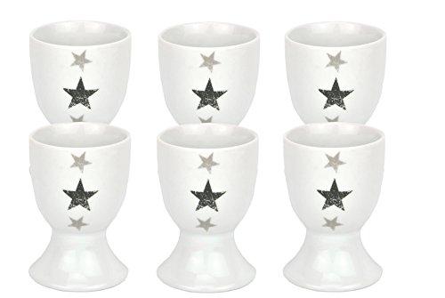 6er Set Eierbecher Stars 4,6cm