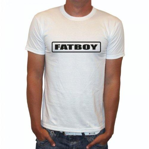 J.Roxx Fatboy Fun Herren T-Shirt, Größe:L;Farbe:weiss