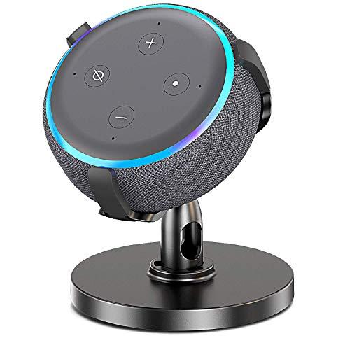Bovon Tischhalterung für Dot 3. Generation, 360° Verstellbare Halterung Ständer für Intelligenten Lautsprecher, Dot Zubehör, Verbessert die Sichtbarkeit des Sounds und die Erscheinung -