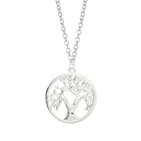 GOOD.designs modische Damen Baum des Lebens-Halskette aus 925 Sterlingsilber plattierter Kuperlegierung (925 Sterling Silber)