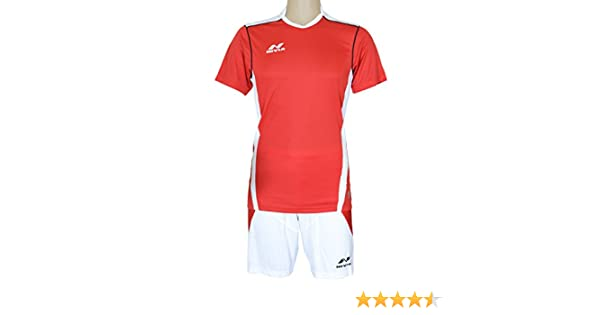 Buy NIVIA Radar Football Jersey Set Red White (XL) Online at Low Prices in  India - Amazon.in ff3617d82