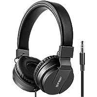 Gorsun Premium Kinderkopfhörer, Faltbare Kopfhörer für Kinder, Verstellbare Leicht-Kopfhörer für Jungen und Mädchen-Schwarz