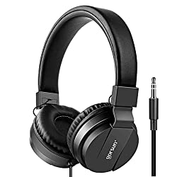Premium Gorsun Kids Headphones Over Ear, Foldable Headphones For Kids, Lightweight Children Headphones-black