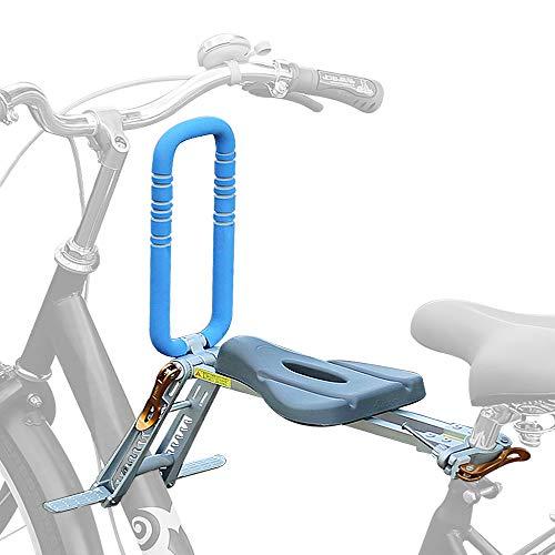 UrRider, seggiolino per Bicicletta per Bambini, Portatile, Pieghevole e Ultraleggero, con corrimano per Biciclette Cruiser, Biciclette Pieghevoli, City Shared, Blue