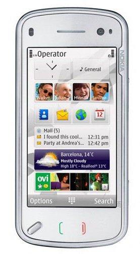 Nokia N97 Mini Smartphone (UMTS, WLAN, GPS, 5 MP, Ovi Karten) White Mini N97 Handy
