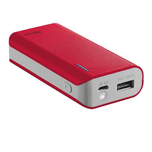 Trust urban primo caricabatteria portatile da 4400 mah, rosso