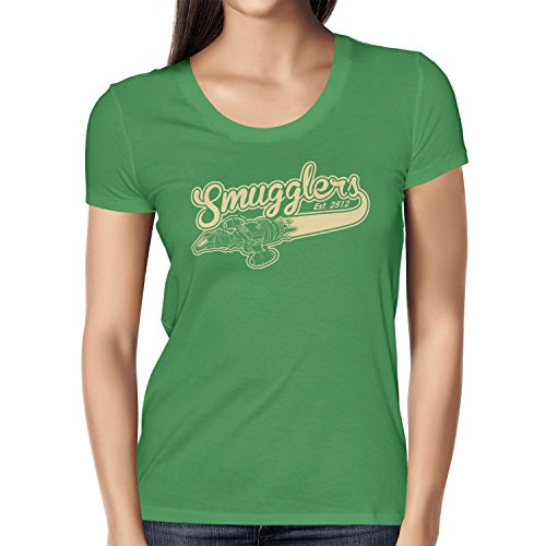 TEXLAB - Smugglers - Damen T-Shirt, Größe M, grün (Jayne Firefly Kostüm)