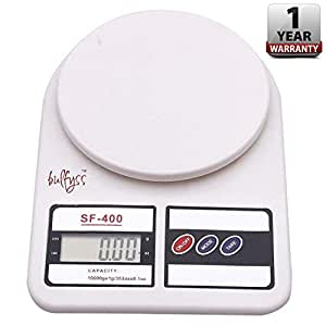 Bulfyss Electronic Kitchen Digital Weighing Scale (10 Kg) - White