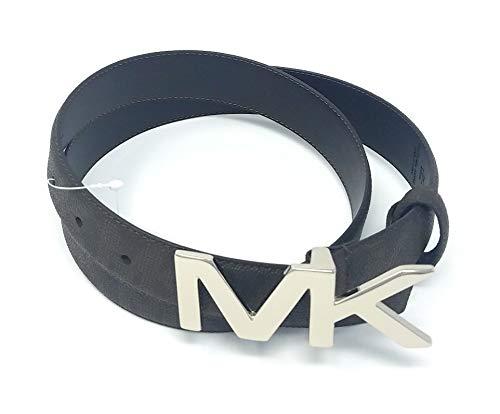 Michael Kors Brown Herren Gürtel MK Logo Schnalle 85 cm (Michael Kors Gürtel Männer Mk)