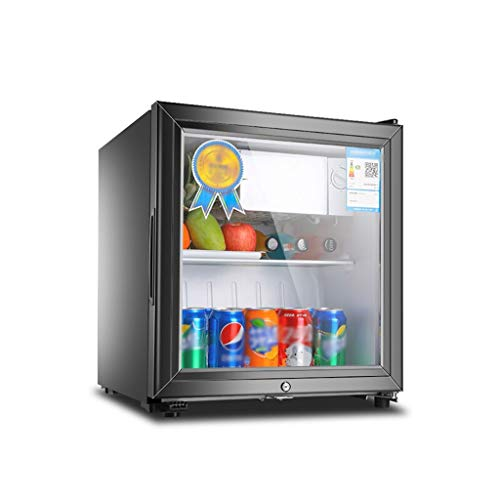Unbekannt Eintüriger Kühlschrank mit 50 / 90L Fassungsvermögen Energiespardämpfer mit Schloss Lebensmittelprobendisplay Kühl- und Gefrierschrank Lagerschrank Haushalt 3-12°C (Wein-kühlschrank Mit Schloss)