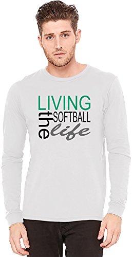 Living The Softball Life Funny Slogan Langarm-T-Shirt Long-Sleeve T-shirt   100% Preshrunk Jersey Cotton