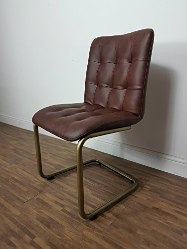 Maison Chic Two (2) Brown Vintage Industrial Retro Hipster Style Dining Chairs £169 a PAIR