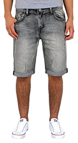 by-tex Herren Jeans Shorts kurze Bermuda Shorts Used Look kurze Hose Basic Jeans Shorts AS431 - 34w Kurz