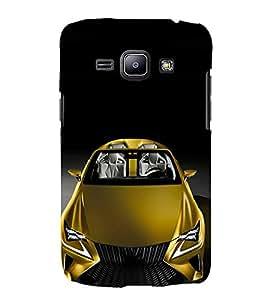 FUSON Yellow Metalic Sports Car 3D Hard Polycarbonate Designer Back Case Cover for Samsung Galaxy Core I8260 :: Samsung Galaxy Core Duos I8262