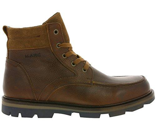 Marc Shoes Tommy, Bottes courtes avec doublure chaude homme Marron - Braun (brandy 00124)