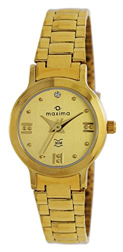 Maxima Analog Gold Dial Women's Watch - 01598CMLY image