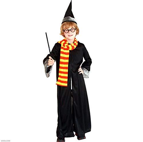 Kostüm Mann Black Magic - DDHZTA Halloween Kinder Magic Wand Ball Show Set Mantel Harry Potter Kostüm Männer Cos Kleidung,Black