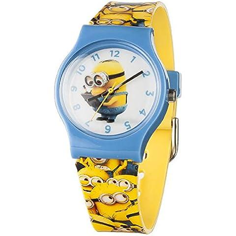 Gru: Mi Villano Favorito MNS18 - Reloj de pulsera agujas para niño, color blanco