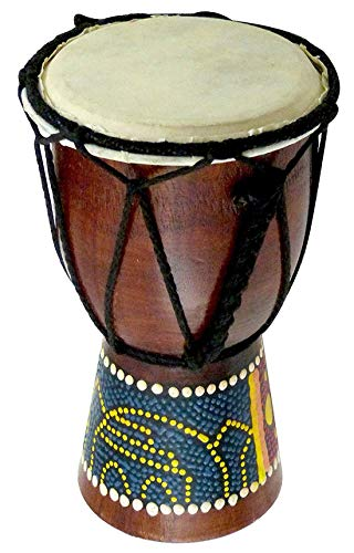 Makan African Style 6 Inch Wooden Doumbek Darbuka Hand Drum Egyptian Design Drum/Djembes/Djembe Musical Percussion Instrument With Carry Bag