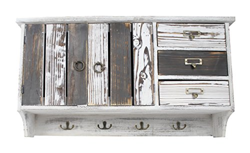 Decoline Holz Garderobe weiß grau -
