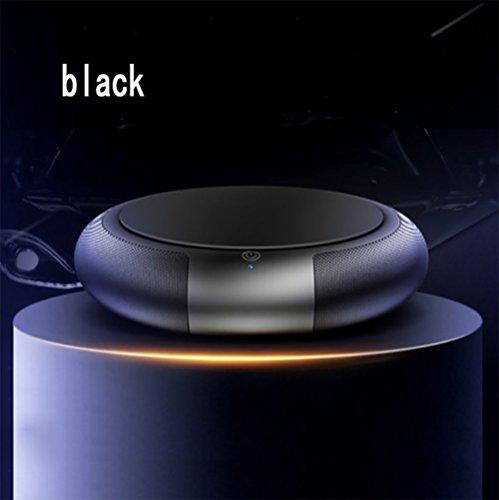 RUIX Auto Luftreiniger Auto Beseitigen Formaldehyd PM2.5 Geruch Aromatherapie Negative Sauerstoffbar,Black