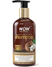 WOW Coconut Milk No Sulphate, Parabens, Silicones, Salt and Colour Shampoo, 300ml