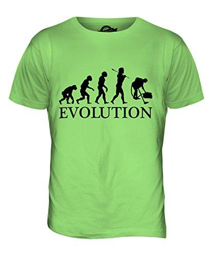 CandyMix Hausmeister Putzfrau Evolution Des Menschen Herren T Shirt Limettengrün