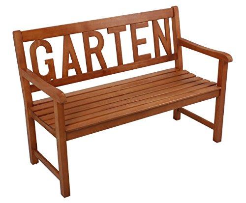 Benelando 3-Sitzer Gartenbank mit Schriftzug 'Garten'