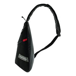 41tRAr15ntL. SS300  - WENGER® Premium Slingbag para hombres y mujeres, 10 litros, Sling Backpack Hombro en negro con forro interior gris