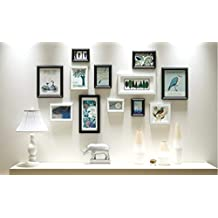 Marco de fotos de pared de foto Dormitorio de madera hecho a mano Sala de estar Marco de madera hecho a mano de seguridad Conjunto de pared de eco Marcos de ...