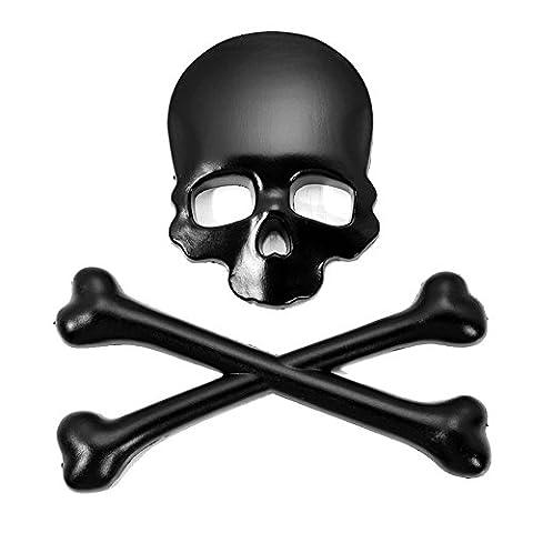 philna123D Totenkopf Skull Bone Emblem Aufkleber Auto Aufkleber (schwarz) (8,5 Aufkleber)