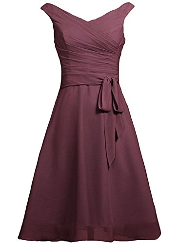 Azbro Women's V Neck Sleeveless Tie Waist Bridesmaid Dress Royal Blue