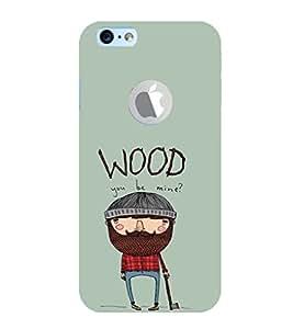 EPICCASE Woodbe Mine Mobile Back Case Cover For Apple iPhone 6, 6S Logo Cut (Designer Case)