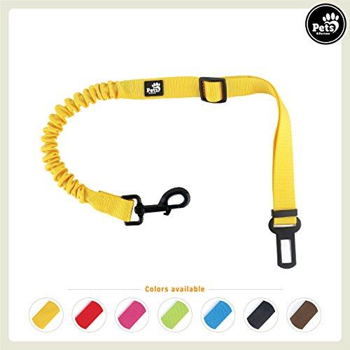 Pets&Partner® Hunde Autogurt/Sicherheitsgurt in Verschiedenen Farben farblich passend zu Halsband und Geschirr, Gelb -