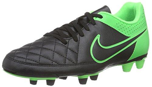 Nike Tiempo Rio II FG, Herren Fußballschuhe, Mehrfarbig (Black/Black/Green Strike/Green Strike), 41 EU