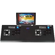 Oshide Arcade Game Machine 3D Videojuegos clásicos Reproductores dobles Reproductores de 10 pulgadas Pantalla LCD HD y 2177 Juegos clásicos Dentro de la máquina TV Consola de juegos