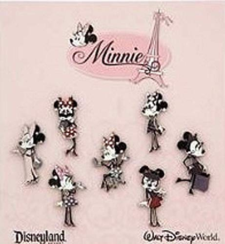 Disney Minnie Paris Fashion Mouse Booster Set of 7 Trading pins