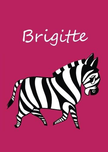 personalisiertes Malbuch / Notizbuch / Tagebuch - Brigitte: DIN A4 - blanko - Zebra