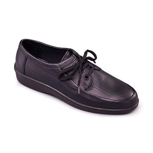 Padders Homme Chaussure en Cuir Rebel | Taille Standard F | Talon 30mm | Avec Chausse-Pied Gratuit Noir