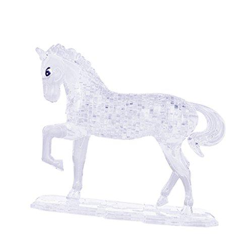 Hellery 3D Crystal Puzzle Pferdetier Innenministerium Tischdekoration - Weiß (3d Crystal Puzzle Pferd)