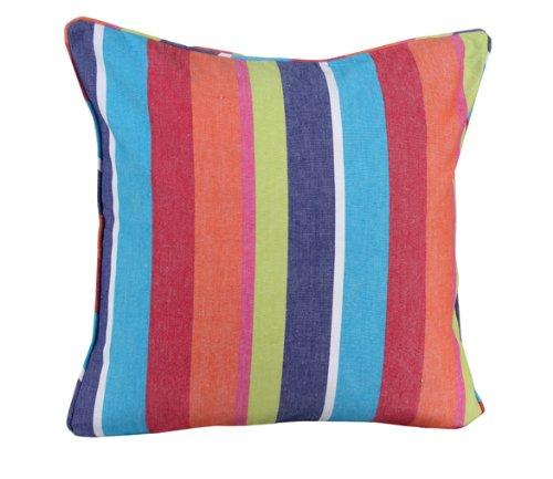 Homescapes dekorative Kissenhülle Multi Stripes, 60 x 60 cm, Kissenbezug mit Reißverschluss aus 100% reiner Baumwolle