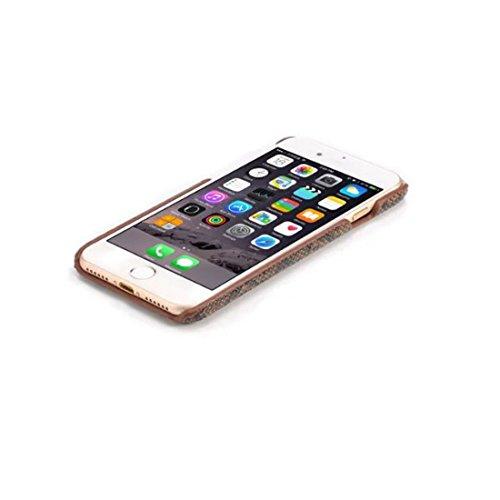 Apple iPhone 7 Plus 5.5 inch Coque Protection Case, Original Désign imité Peau de Serpent Apparence Serie Divers Couleur Mince Poids Léger Joli Dur Housse de protection marron-1