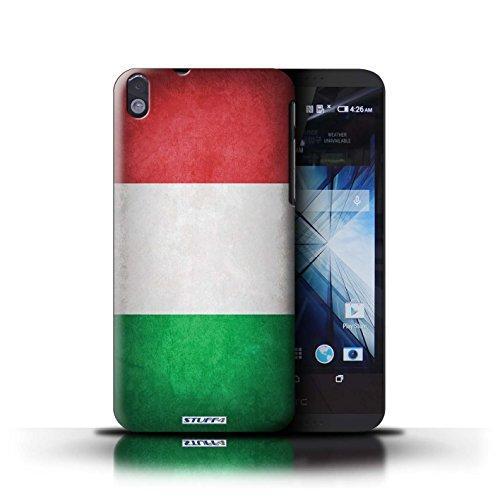 Kobalt® Imprimé Etui / Coque pour HTC Desire 816 / Nigeria conception / Série Drapeau Italie/italien