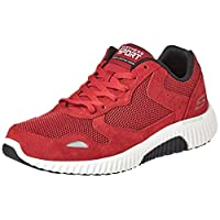 SKECHERS Paxmen, Men's Road Running Shoes, Black (Red/Black), 9 UK (43 EU)