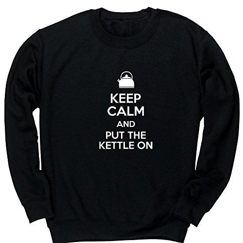 Hippowarehouse Keep Calm and Put The Kettle On Kids Children's Unisex Jumper Sweatshirt Pullover